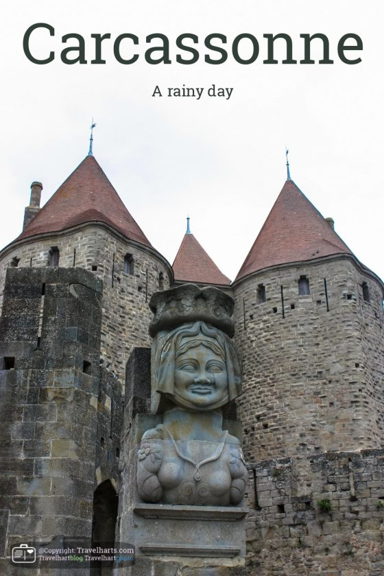 A rainy day in Carcassonne – France